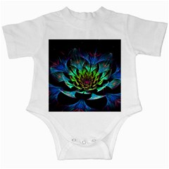 Fractal Flowers Abstract Petals Glitter Lights Art 3d Infant Creepers