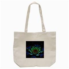 Fractal Flowers Abstract Petals Glitter Lights Art 3d Tote Bag (cream)