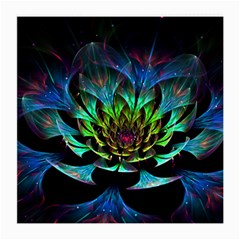 Fractal Flowers Abstract Petals Glitter Lights Art 3d Medium Glasses Cloth (2 Side)
