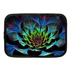 Fractal Flowers Abstract Petals Glitter Lights Art 3d Netbook Case (medium)
