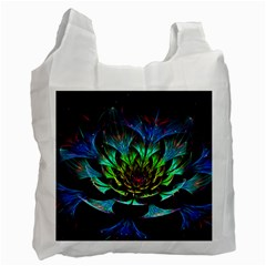 Fractal Flowers Abstract Petals Glitter Lights Art 3d Recycle Bag (two Side)