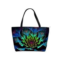Fractal Flowers Abstract Petals Glitter Lights Art 3d Shoulder Handbags