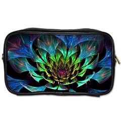 Fractal Flowers Abstract Petals Glitter Lights Art 3d Toiletries Bags 2 Side