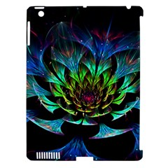 Fractal Flowers Abstract Petals Glitter Lights Art 3d Apple Ipad 3/4 Hardshell Case (compatible With Smart Cover)