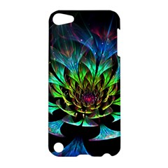 Fractal Flowers Abstract Petals Glitter Lights Art 3d Apple Ipod Touch 5 Hardshell Case