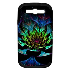 Fractal Flowers Abstract Petals Glitter Lights Art 3d Samsung Galaxy S Iii Hardshell Case (pc+silicone)