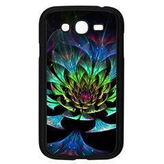 Fractal Flowers Abstract Petals Glitter Lights Art 3d Samsung Galaxy Grand Duos I9082 Case (black)