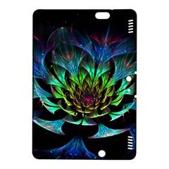 Fractal Flowers Abstract Petals Glitter Lights Art 3d Kindle Fire Hdx 8 9  Hardshell Case