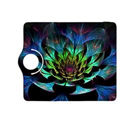 Fractal Flowers Abstract Petals Glitter Lights Art 3d Kindle Fire Hdx 8 9  Flip 360 Case
