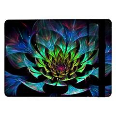 Fractal Flowers Abstract Petals Glitter Lights Art 3d Samsung Galaxy Tab Pro 12 2  Flip Case