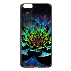 Fractal Flowers Abstract Petals Glitter Lights Art 3d Apple Iphone 6 Plus/6s Plus Black Enamel Case