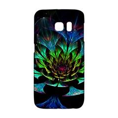 Fractal Flowers Abstract Petals Glitter Lights Art 3d Galaxy S6 Edge