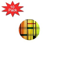 Line Rainbow Grid Abstract 1  Mini Magnet (10 Pack)