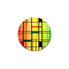 Line Rainbow Grid Abstract Golf Ball Marker (4 Pack)