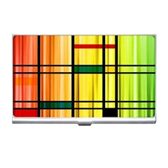 Line Rainbow Grid Abstract Business Card Holders