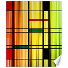 Line Rainbow Grid Abstract Canvas 20  X 24