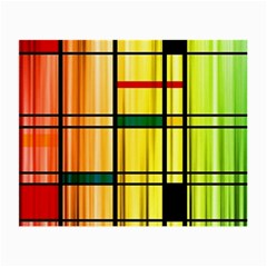 Line Rainbow Grid Abstract Small Glasses Cloth (2 Side)