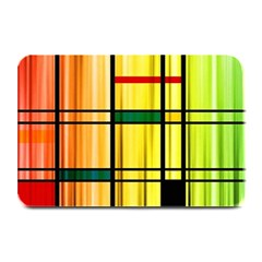 Line Rainbow Grid Abstract Plate Mats