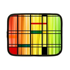 Line Rainbow Grid Abstract Netbook Case (small)