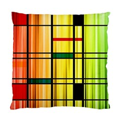 Line Rainbow Grid Abstract Standard Cushion Case (one Side)