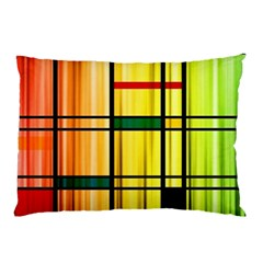 Line Rainbow Grid Abstract Pillow Case