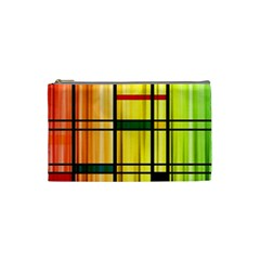 Line Rainbow Grid Abstract Cosmetic Bag (small)