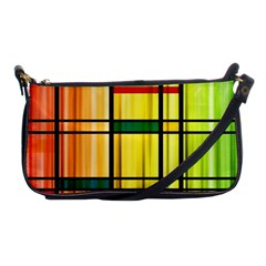 Line Rainbow Grid Abstract Shoulder Clutch Bags