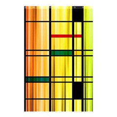 Line Rainbow Grid Abstract Shower Curtain 48  X 72  (small)