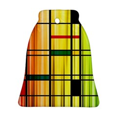 Line Rainbow Grid Abstract Ornament (bell)