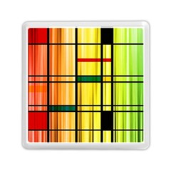 Line Rainbow Grid Abstract Memory Card Reader (square)
