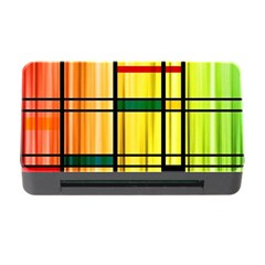 Line Rainbow Grid Abstract Memory Card Reader With Cf