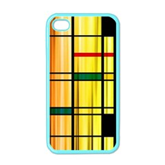 Line Rainbow Grid Abstract Apple Iphone 4 Case (color)