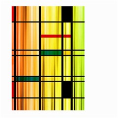 Line Rainbow Grid Abstract Large Garden Flag (two Sides)