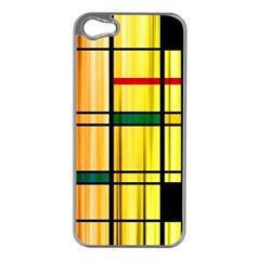Line Rainbow Grid Abstract Apple Iphone 5 Case (silver)