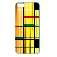 Line Rainbow Grid Abstract Apple Seamless Iphone 5 Case (color)