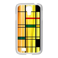 Line Rainbow Grid Abstract Samsung Galaxy S4 I9500/ I9505 Case (white)