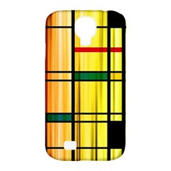 Line Rainbow Grid Abstract Samsung Galaxy S4 Classic Hardshell Case (pc+silicone)
