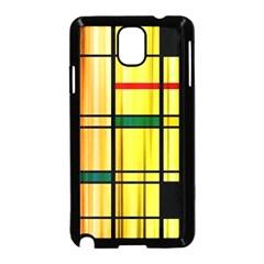 Line Rainbow Grid Abstract Samsung Galaxy Note 3 Neo Hardshell Case (black)