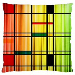 Line Rainbow Grid Abstract Standard Flano Cushion Case (two Sides)