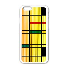 Line Rainbow Grid Abstract Apple Iphone 6/6s White Enamel Case