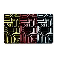 Circuit Board Seamless Patterns Set Magnet (rectangular)