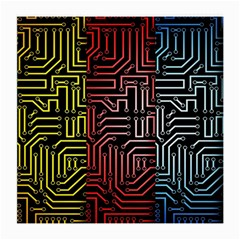 Circuit Board Seamless Patterns Set Medium Glasses Cloth
