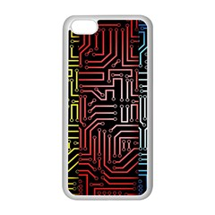 Circuit Board Seamless Patterns Set Apple Iphone 5c Seamless Case (white)