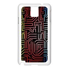 Circuit Board Seamless Patterns Set Samsung Galaxy Note 3 N9005 Case (white)