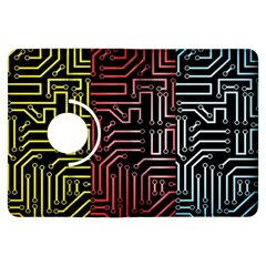 Circuit Board Seamless Patterns Set Kindle Fire Hdx Flip 360 Case
