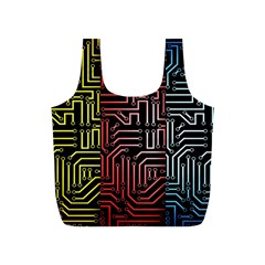 Circuit Board Seamless Patterns Set Full Print Recycle Bags (s)