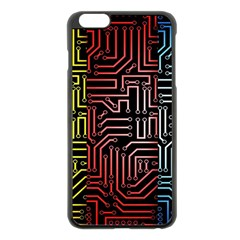 Circuit Board Seamless Patterns Set Apple Iphone 6 Plus/6s Plus Black Enamel Case