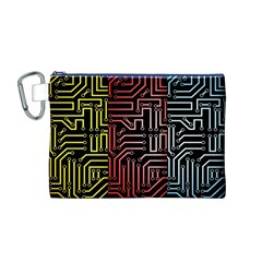 Circuit Board Seamless Patterns Set Canvas Cosmetic Bag (m)