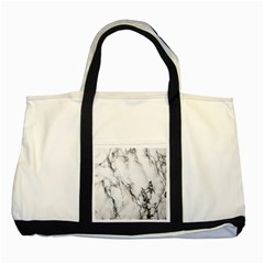 Marble Pattern Two Tone Tote Bag
