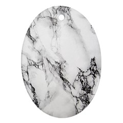 Marble Pattern Oval Ornament (two Sides)